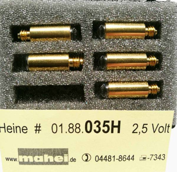 Diagnostiklampen 2.5V Heine .035