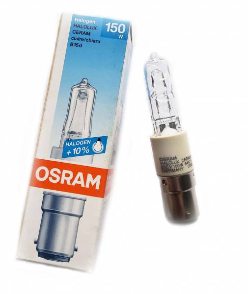 Halogenlampe 230V 150W Ba15d Halolux Ceram