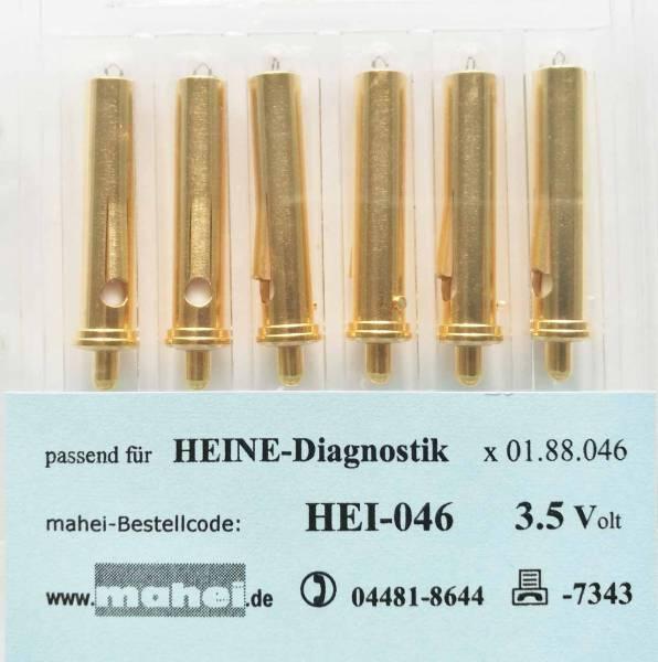 Diagnostik Lampe 3.5V Heine .046, 6 Stück